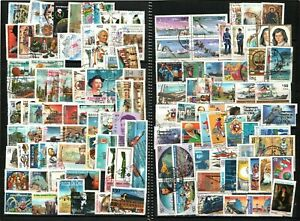 CHILE 440 Modern large conmemoratives different used stamps in VF condition $$$