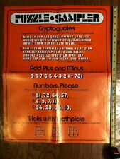 Vintage Puzzle Sampler Educational Teacher Poster Scholastic Magazines 1974