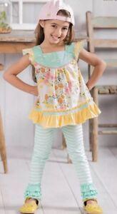 Matilda Jane Girls Size 8 Skipping Along Leggings New