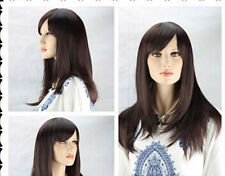 HE-J0181  sexy Long long brown Straight Fashion Wig wigs for modern women