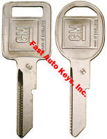 "2 NEW GM Logo OEM ""E"" IGNITION +""H"" DOORS/TRUNK Key Blanks Uncut 320404 + 320405"