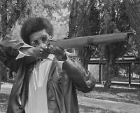 BLACK PANTHER WITH RIFLE GLOSSY POSTER PICTURE PHOTO PRINT POWER CIVIL RIGHTS