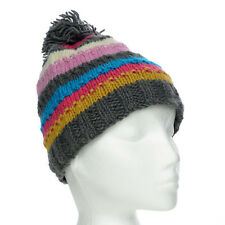Funky Hand Knit Winter Woollen Beanie Brighton Bobble Hat, One Size, UNISEX BB2