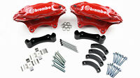 Holden VT VU VX VY VZ Commodore RED Brembo Big Brake Kit 4 Piston Rear HSV SS V8