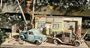 """QHC Diorama 1:18 """"Y.M. Towing Station"""" with lighting!"""