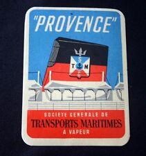 "Vintage SGTM Line ""PROVENCE""Luggage Label NOS Unused"