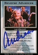 BABYLON 5 CCG Card Andreas Katsulas (1946-2006) Reverse Advances AUTOGRAPHED