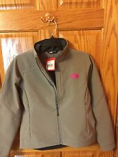 Women's Northface Apex Soft Shell Jacket. Size Small. Gray/Pink. NWT