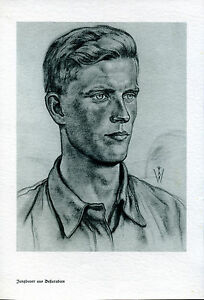 Wolfgang Willrich -- Jungbauer aus Beßarabien -- S/W - Zeichnung -- Druck --