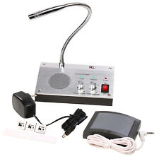 Dual-Way Talk Through Store Office Window Glass Counter Intercom Speaker System