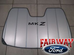 15 thru 19 Lincoln MKZ OEM Ford Sun Shade Screen with MKZ Logo and Storage Bag