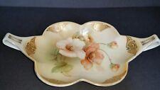 Beautiful R S Germany Handpainted Dish Bowl Peach Cherokee Rose