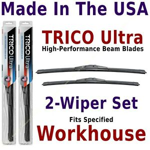 Buy American: TRICO Ultra 2-Wipers Set fits listed Workhouse Work Horse 13-18-18