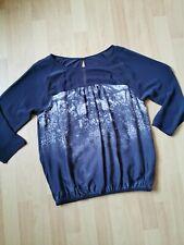 Beautiful Black MINT VELVET Silk Blouse Top Size 14/16 vgc