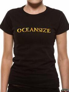 OCEANSIZE Gold Foil Logo T-Shirt Cotton Official Rock Merch Size:Ladies M Medium