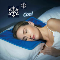 Cooling Gel Pillow Chilled Natural Comfort Sleeping Aid Body Cool Bed Mat Pad *