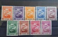 PORTUGUESE GUINEA  1938 COMPLETE SET CORREIO AEREO MH LOT