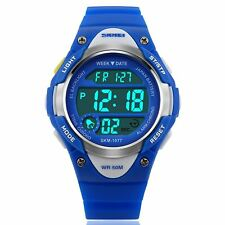 Boys Blue Digital Watch 50m Water Resistant Stopwatch Alarm Ages 5-13