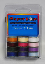 SuperBOBs Prewound Bobbins Bottom Line Thread L Style Jewel And Pastel