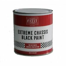 Frost Chassis Black Satin Protection Paint 1 Litre Durable Chip Resistant Coat