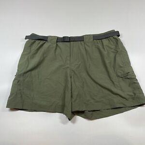 NWT Columbia Green Court Cargo Shorts Womens Belt Size XL