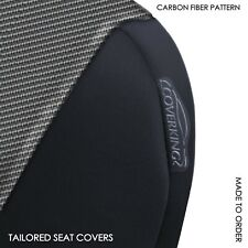Coverking Carbon Fiber Neosupreme Front Tailored Seat Covers for Fiat 124 Spider