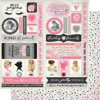 """Flawless Double-Sided Cardstock Die-Cut Sheet 12""""X12"""" Elements 738944699249"""