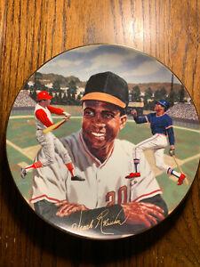 BradEx Frank Robinson Superstars of Baseball Limited Edition Plate Orioles HOF