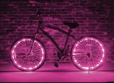 (Pink) 2 sets LED Bicycle Bike Cycling Rim String Lights Wheel Spoke Waterproof