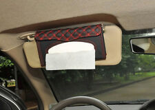 PU leather Car sun visor Tissue box Paper napkin clip Bag Dispenser Holder