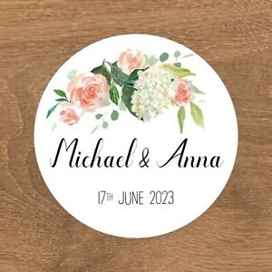 Personalised Wedding Stickers Favour Labels (A-003)