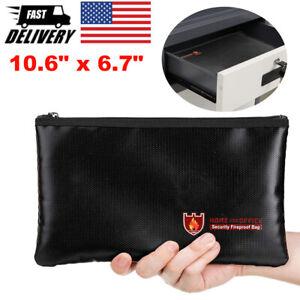Fire Proof Money Bag Waterproof Document Bag Cash File Envelope Protect Pouch