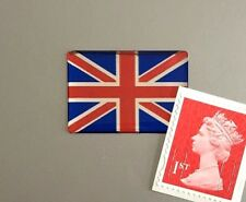 Union Jack Flag Sticker Domed Finish Red, Blue & Chrome 30mm