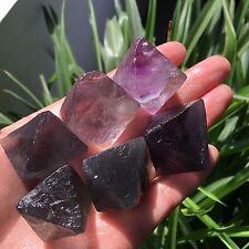234g 6 Natural octagonal  fluorite crystal gem stone original specimens K1020