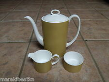 MID CENTURY WEDGWOOD SUSIE  COPPER DESIGN AMBER PAT COFFE, TEA SET