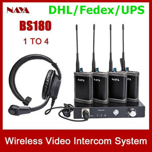 NAYA BS180 Wireless Intercom System Transmit 2000M Full Duplex Signal Talkback