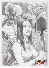 2016 Braiiinz Publishing Horror Meets Girl Omar Zaldivar (OZ) Sketch Card GHOUL