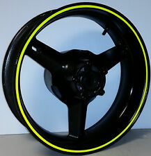 FLUORESCENT NEON DAYGLO YELLOW MOTORCYCLE RIM STRIPES WHEEL DECALS TAPE STICKERS
