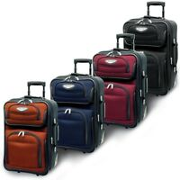 """Amsterdam 21"""" Carry-on Light Expandable Rolling Luggage Travel Suitcase Bag"""