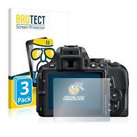 3x Pellicola di Vetro Temperato per Nikon D5600 Protezione Schermo