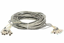 Vintage Stanley Stan Miller/Stanal Sound 6-Ch. XLRM - XLRF 125' Snake Cable