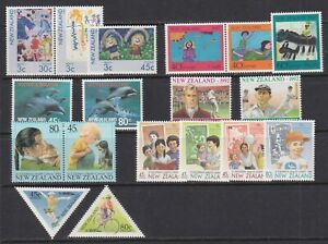 New Zealand B124//B150 1986//1995 VF MNH Health Semi-Postal Stamps 7 Sets