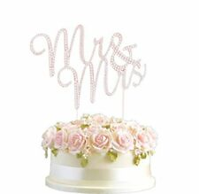 Rhinestone Crystal MR & MRS Rose Gold Wedding Cake Toppe rNumber Pick UK Stock