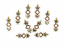 Tribal Black Red Bindi Belly Dance Crystal Indian Jewelry Body Stickers