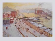 Jack Lorimer Gray Kunstdruck Bild Lichtdruck Hafenansicht im Winter 70x102 cm