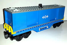 LEGO Train Custom Shipping Container Goods Wagon Carriage For City Train Sets