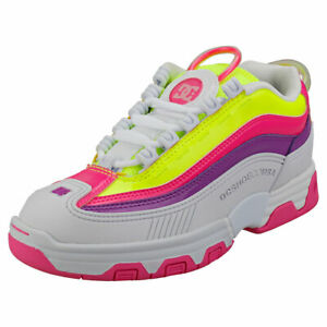 DC Shoes Legacy Og Usa Femme Multicolour Synthetique Baskets Mode
