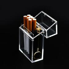 Cigarette Case Pocket Box Glitter Transparent Organizer Plastic Portable Holder