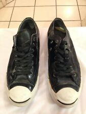 Jack Purcell Leather Black Converse Sneakers Men's Size 11 Women's 12.5