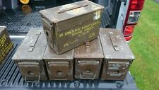 AMMUNITION BOXES 50 CAL FAT 50 TOOL STORAGE GARAGE EQUIPMENT MILITARY VEHICLES